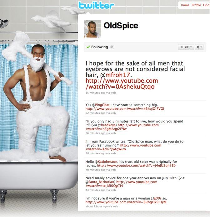 Redes sociales: campaña de Old Spice