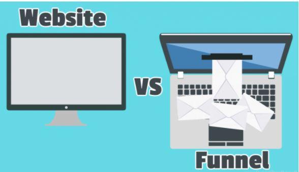 funnel o página web